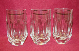 "Set Of Three (3) Gorham Cut Crystal - Alexandra Pattern - 4 1/2"" Flat Tumblers - $39.95"