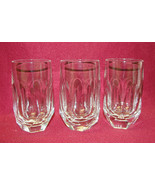 "Set of Three (3) GORHAM Cut Crystal - ALEXANDRA Pattern -  4 1/2"" FLAT T... - $39.95"