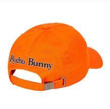 Psycho Bunny Men's Cotton Embroidered Fiesta Orange Baseball Cap Strapback Hat image 3