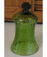 Vintage HOMCO Votive Cup Candle Holder TALL Green Faded Diamond - $3.75