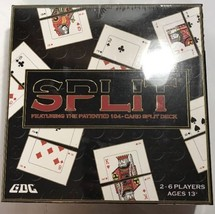 SPLIT FEATURING THE PATENTED 104- CARD SPLIT DECK NEW 2-6 Players Ages 13+ - $23.36
