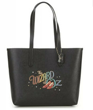 NWT Coach Ruby Slippers Wizard Of Oz Crossgrain Highline Black Gold Tote... - $196.02