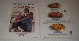 1991 Kraft Ad - Shredded Mozzarella, Miracle Whip and Macaroni & Cheese - $14.99