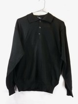 Fila Lightweight Black Long Sleeve Polo Sweater New/Tags Size Small-Medium - $19.00