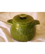 Franciscan Wheat Winter Green Bean Pot With Lid - $31.49