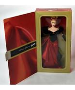 Mattel BARBIE Girls Doll NIB Winter Splendor Avon Black Red Dress Gloves - $18.99