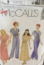 McCalls 8727 Misses Dress Jumpsuit Size 6-10 Easy Sewing Pattern Uncut F/F - $12.71