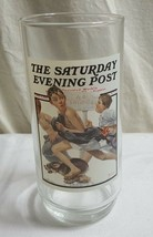 "1987 NORMAN ROCKWELL Arby's 6"" NO SWIMMING Glass #2 of 6 of SEP Series MINT - $10.76"