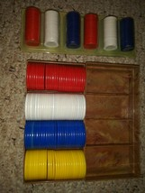2 sets of Poker Chips- Red White Blue - $4.00