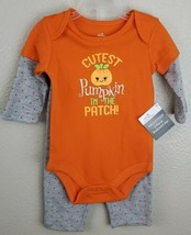 Halloween Baby Girl 2 pc BodySuit Outfit w/Pants 3-6 Months Cutest Pumpk... - $5.44
