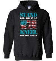 Stand For The Flag Kneel For The Fallen Blend Hoodie - $32.99+