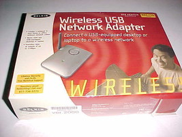 Belkin Wireless USB Network Adapter 802.11b Desktop Laptop Model F5D6050... - $24.74