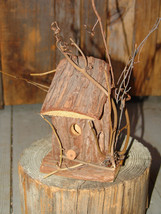 GENUINE TREE BARK & VINE WRAPPED BIRD HOUSE (Magpie Treehouse Market) - $8.75