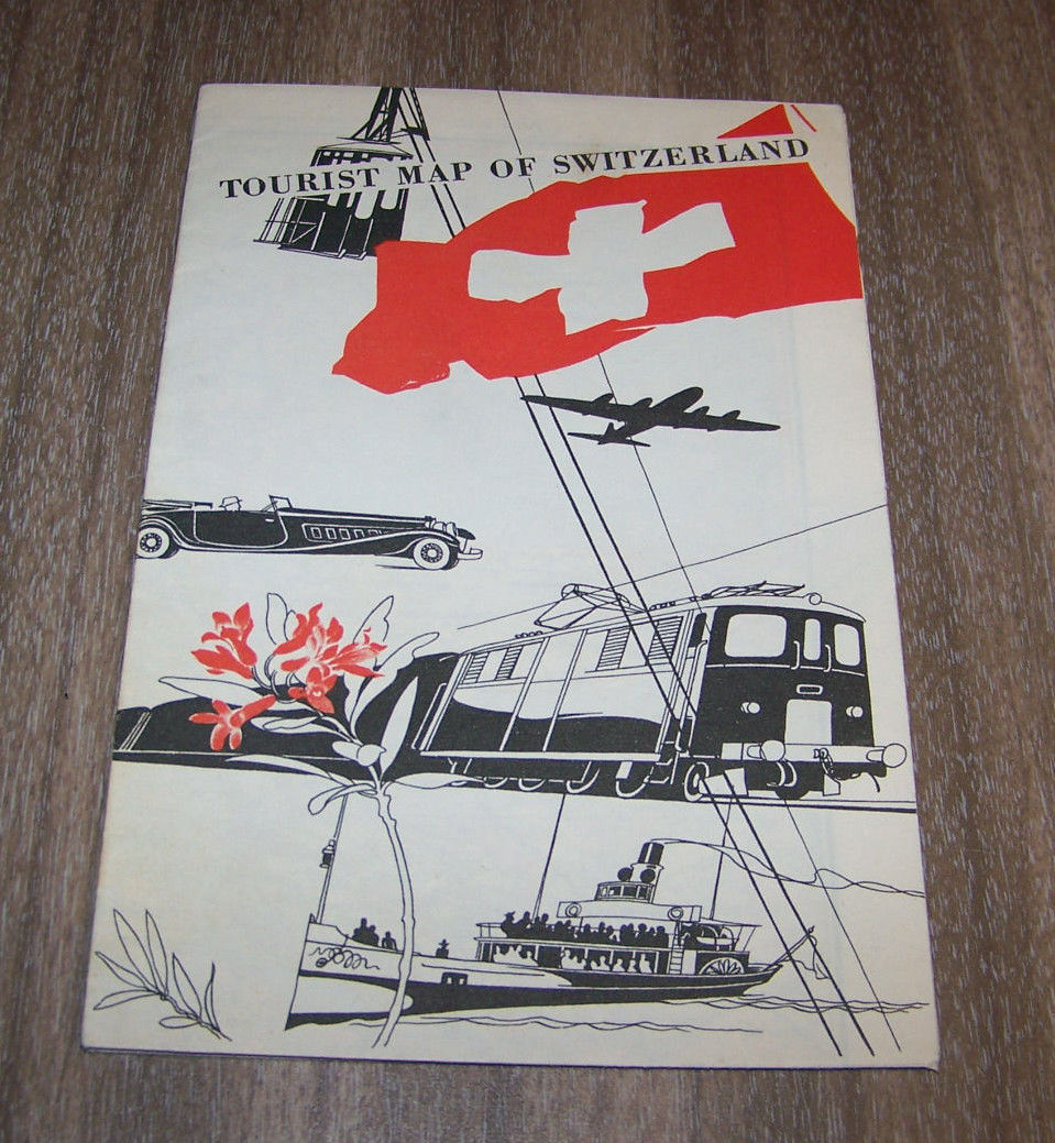 Vintage Switzerland Tourist Map
