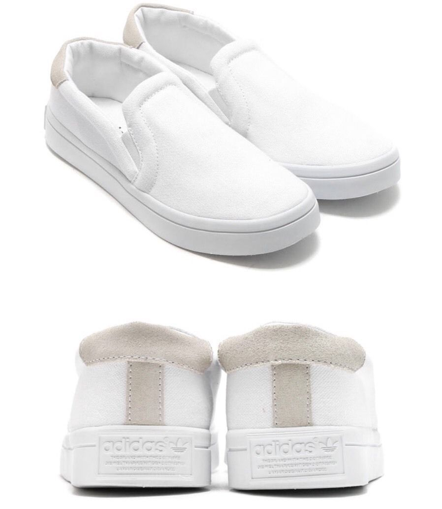 differently 629ba 92cfa S l1600. S l1600. Previous. adidas Originals CourtVantage Slip On W White  Women Casual Shoes Sneakers S75172