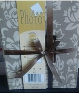 Twin  2UP Pack Floral Khaki Photo Album each holds 200 4x6 prints NEW - $21.49