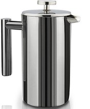 Stainless Steel Double Wall French Coffee Press Large 1 Liter Kitchen Ca... - $69.25