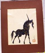 FREE FORM PAPER CUTTING OF UNICORN BY HOU-TIEN CHENG - $19.95