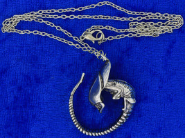 Alien Creature Necklace or Keychain Sci-Fi Chain Style Length Choice - $4.99+