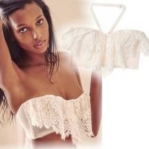 NEW Victoria's Secret 34DD Flounce Ivory Floral Lace Bra - $38.61
