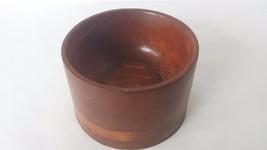 Wood Turned Nut Bowl Dish Decor Art Display Dark Mid Century - $14.84