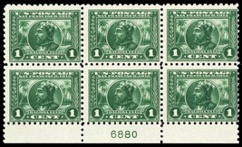 401, Mint NH 1¢ Rare Perf 10 Plate Block of Six Stamps Cat $650.00 - Stu... - $250.00