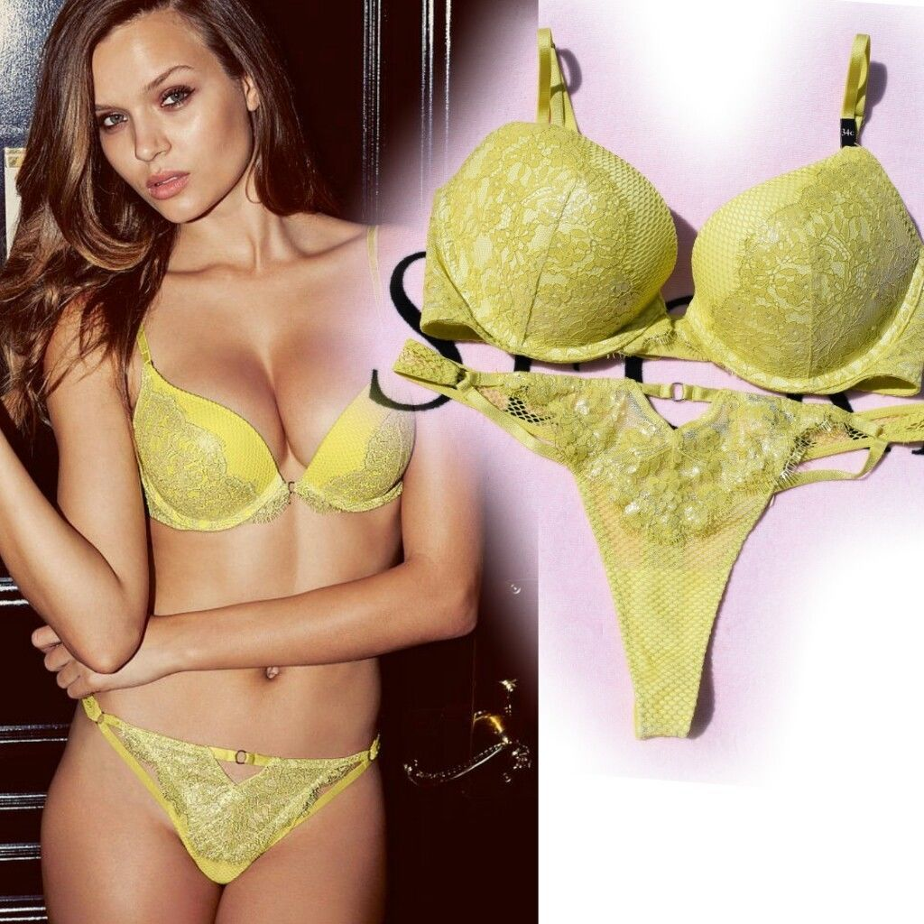 685007ed72 NEW Victoria s Secret 34C M Yellow Pushup and 50 similar items. S l1600