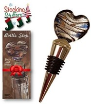 Wine Bottle Stopper - Bonus Wine And Spirits Recipes - Heart Shaped - G... - $11.48