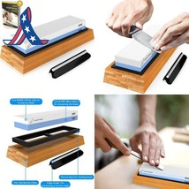 Premium Knife Sharpening Stone 2 Side Grit 1000/6000 Waterstone | Best W... - $47.57