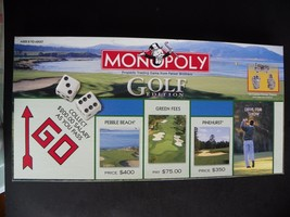 Monopoly Golf Edition  2000 Hasbro Retired No Instruction Booklet - $15.79
