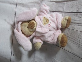 "8"" Ty Pluffies Pink Love To Baby Bear Bunny Removable PJs 2004 Stuffed Animal - $29.99"
