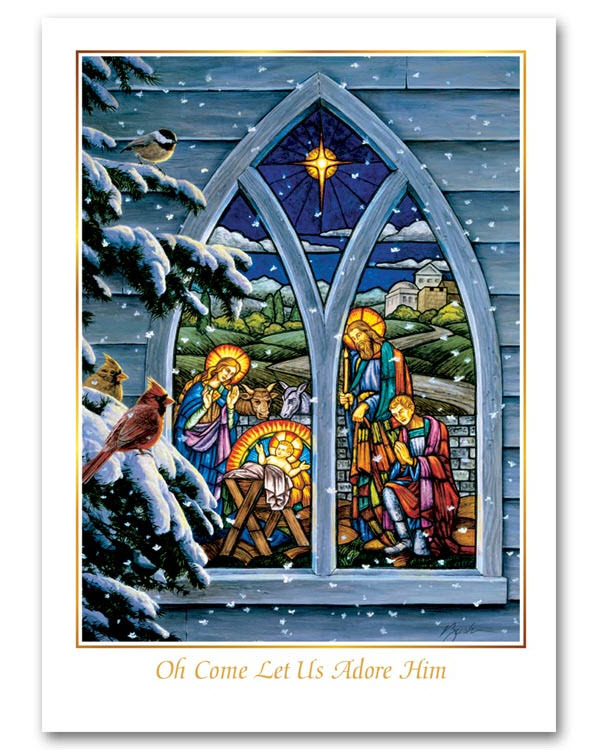 Stained Glass Nativity Christmas Cards - $60.50 - $167.00