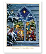Stained Glass Nativity Christmas Cards - $60.50+