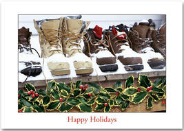 Snow Boots Holiday Cards - $60.50+