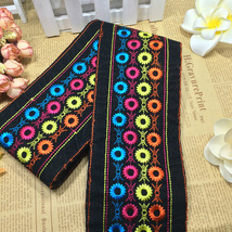 miao cross stitch lace trim ribbon ethnic triba... - $7.80
