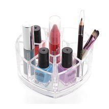 Heart Shape Cosmetic Organizer Makeup Drawers Display Box Acrylic - $12.95