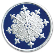 Round Blue/Silver Snowflake Holiday Seal - $19.00