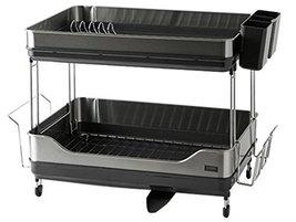 Hanssem Modern Steel Dish Drying Rack Dish Stands double Layer Kitchen Organizat