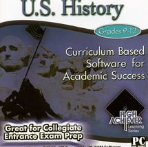 High Achiever U.S. History Grades 9-12 Windows 95/98/Me/XP/Vista CD ROM for PC - $4.99