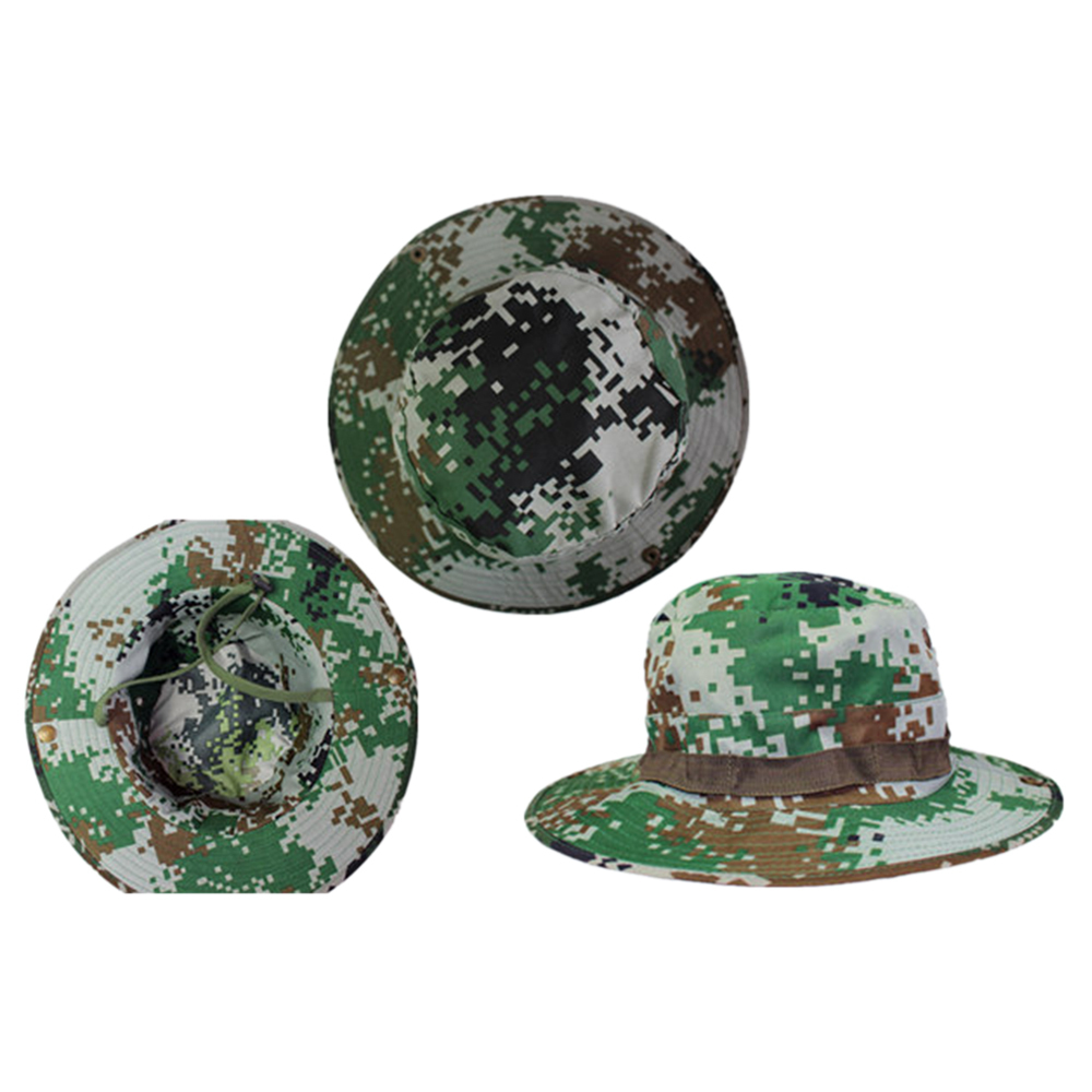 Outdoor Casual Combat Camo  Sun Hat Cap Fishing Hiking  forest