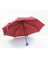 Folding Umbrella Compact Light weight Anti-UV Rain Sun Umbrella Wine Red - $15.99