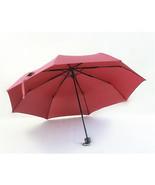 Folding Umbrella Compact Light weight Anti-UV Rain Sun Umbrella Wine Red - $15.99
