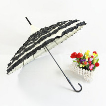 Wedding Cake umbrella Bride & Groom Umbrella Princess Umbrella Black and... - $26.99