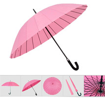 umbrella Water Activated Flower appeared once wet Windproof Princess Pink - $24.99
