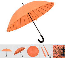 umbrella Water Activated Flower appeared once wet Windproof Princess Orange - $24.99