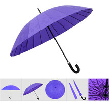 umbrella Water Activated Flower appeared once wet Windproof Princess Purple - $24.99