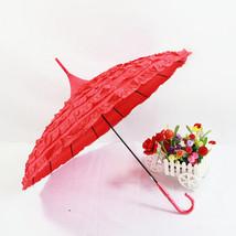 Wedding Cake umbrella Bride & Groom Umbrella Princess Umbrella Red - $26.99