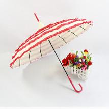 Wedding Cake umbrella Bride & Groom Umbrella Princess Umbrella Red and W... - $26.99