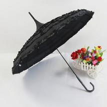 Wedding Cake umbrella Bride & Groom Umbrella Princess Umbrella Black - $26.99