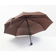 Folding Umbrella Compact Light weight Anti-UV Rain Sun Umbrella Coffee - $15.99